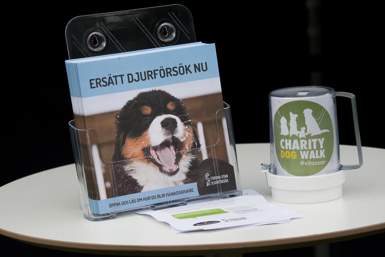 Charity dogwalk 2016 Forska utan djurförsök